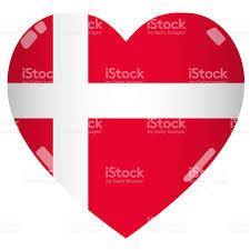 shiny 2d denmark flag heart stock photo 543342070 istock