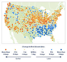 Allergy Map Climate Change Indicators Leaf And Bloom Dates Climate Change