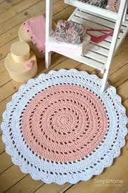 white rug nursery rug crochet rug baby rugs round rug home