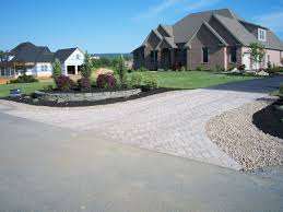 rustic backyards end of driveway landscaping ideas driveway