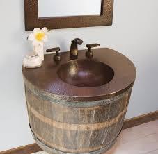 Copper Bathroom Vanity by Copper Vanity Top In Antique Rustic Vanity Tops And Side Splashes