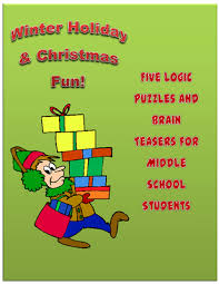 winter five logic puzzles for middle school