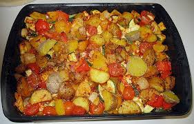 mediterrane küche rezepte mediterranes ofengemüse mit halloumi rezept mit bild chefkoch de