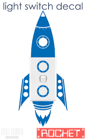 101 best wd switches images on pinterest light switches wall free postage australia rocket light switch vinyl wall decal sticker very cute spaceship for nursery or kids room id 1343