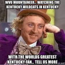 Worlds Funniest Meme - wvu mountaineer watching the kentucky wildcats in kentucky with