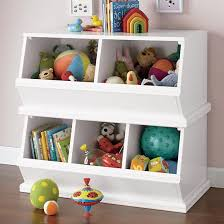 Bookshelf And Toy Box Combo The Land Of Nod Kids U0027 Toy Boxes Kids Wooden Primary Stacking