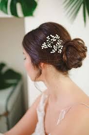 bridal hair pins baby s breath pearl hair vine pins millesime
