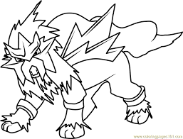 coloring pages cool pokemon coloring pages entei 78011 pokemon