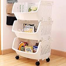 panier de cuisine aj 3 étages racks cuisine fruits et légumes cuisine casiers etagère