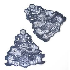 whisper lace tree die cut toppers 6 pack hobbycraft