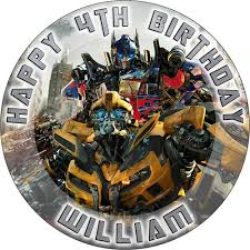 transformers cake toppers transformers sweet tops personalised 100 edible cake and