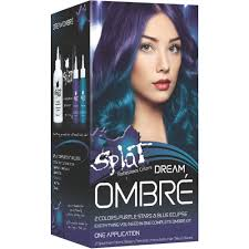 temporary hair color for halloween splat rebellious colors dream ombre purple stars u0026 blue
