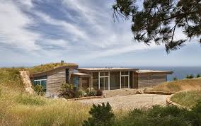berm building exterior contemporary with flat roof form