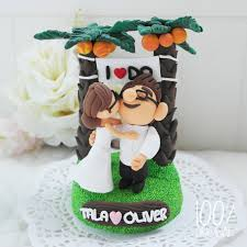 Wedding Cake Bali Custom Wedding Cake Topper Movie Up Couple In Bali 2276643