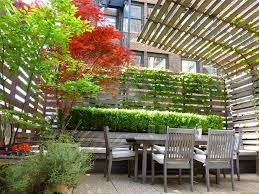 Roof Trellis New York Horizontal Wood Fence Deck Modern With Fencing Espresso