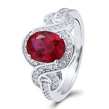 ruby sterling rings images Berricle rhodium plated sterling silver oval cut cubic zirconia cz jpg