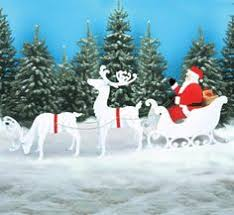 outdoor white reindeer wood yard lawn decoration