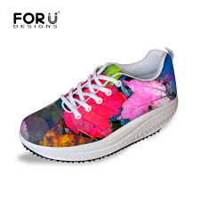 aliexpress com buy maple leaf print women platform shoes all