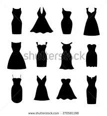 little black dress fashion boutique set stock vector 270581198
