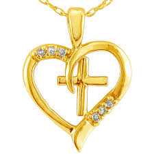 diamond cross heart necklace images 14k white gold 2 5ct tdw diamond heart necklace g h si1 si2 jpg