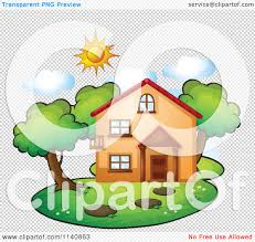 cartoon of a residential home on a sunny day 21 royalty free