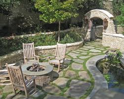 Flagstone Ideas For A Backyard Only For The Flagstone Ground Cover Idea Backyard Ideas
