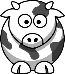 lemmling cartoon cow coloring book colouring black white line art