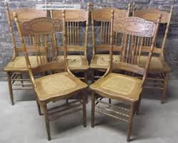 Oak Dining Chairs Design Ideas Set Of Antique C Press Back Oak Dining Chairs Caned