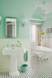 Blue And Green Bathroom Ideas Bathroom Vintage Black And White Bathroom Tile Tiles Paint Ideas