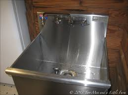 100 plastic utility sink with drainboard whitehaus