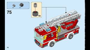 2016 lego city fire ladder truck instructions 60107 youtube