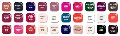 chart opi gelish nail polish color chart