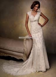 vintage lace wedding dress with cap sleeves naf dresses