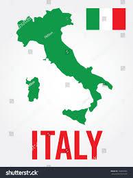 Italian Map Vector Italian Map Flag Set Stock Vector 192803906 Shutterstock
