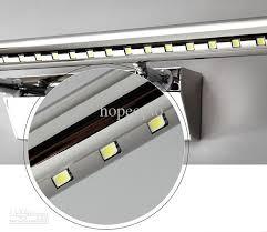 2018 dhl 7w fogproof stainless steel led mirror light led bathroom