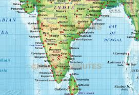 India On A Map India Regular Colour Political U0026 Relief Map 20m Scale With High