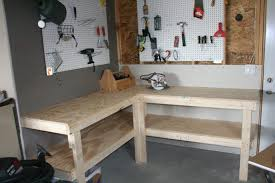 Work Bench With Storage Garage Workbench Formidable Garagerkbench With Storage Pictures