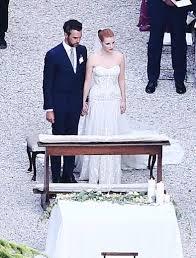 see jessica chastain u0027s wedding dress instyle com