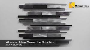 aluminum glass mosaic tile black mix 230179040 youtube