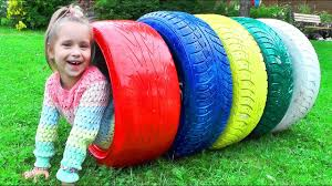 Colors Learn Colors For Kids With Color Tire Educational Video For