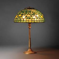 Green And Gold Desk Lamp How To Recognize Quality In Tiffany Lamps Antique Mosaic Glass