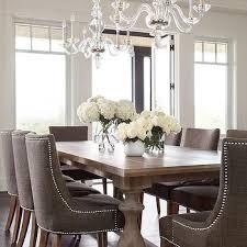 darlene grey upholstered nailhead dining chairs