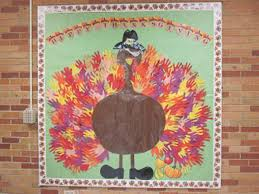 happy thanksgiving handprint bulletin board myclassroomideas