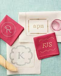 monogrammed table linens and napkins martha stewart