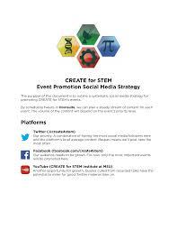 social media strategy create for stem josh anderson
