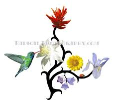 hummingbird n flowers tattoo design 2 tattoos book 65 000