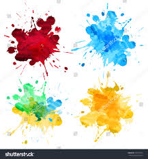 colors splash watercolor splash abstract vector high detail stock vector