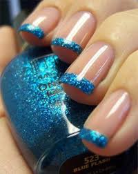 blue nail designs 2012 by eid wedding and valentine day fashion