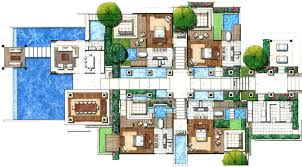 villa floor plans villas floor plans resorts studio design building plans