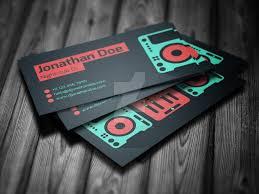 flat dj business card psd template by iamvinyljunkie on deviantart